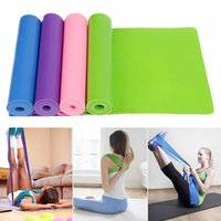 Wholesale 1 M Colorful Fitness Gym Yoga Resistance Bands Elastic Thick Stretch Pull Strap Pilates Band Yoga Resistance L293