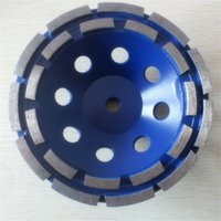 Wholesale Double Row Segments Diamond Grinding Cup Wheel for concrete and stone