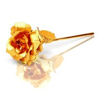 24k gold rose - Home decoration flowers Creative Valentine s Day Gift K Gold Plated Rose Flower Romantic for Lover Girl Friend