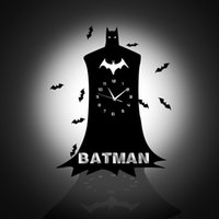 batman clock - DIY BATMAN D Wall Clock Wall Mirror Sticker Clock Watch Mirror Stickers Home BAT Wall Decor Decals Wall Clock Modern Design