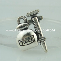antique mini perfume bottles - 15047 Alloy Antique Silver Vintage mm Mini Perfume Bottle Pendant Charm