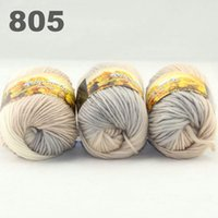 Wholesale colorful hand knitted wool line segment dyed coarse lines fancy knitting hats scarves thick line Grey Beige White