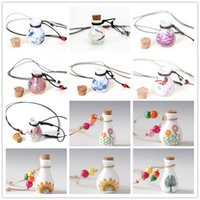 best perfumes women - Best Sellers China Ceramic Wish Bottle Pendant Necklace Fashion Wood Bung Perfume Bottle Necklaces For Women High Quality Jewelry