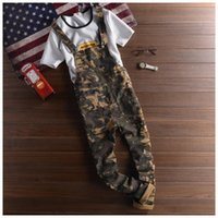 bib overall military - Men Camouflage Pants Fashion Army Casual Military Trouser Bib Overalls For Men Jogging Long Pants Mens Jumpsuit