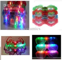 Wholesale Mixed LED flashing glasses led flash glasses mask glasses masquerade party Disco supplies led lighting key finder