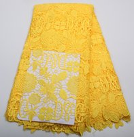 Wholesale New Arrival african guipure lace fabric high quality polyester material for Nigerian wedding dress AMY150B