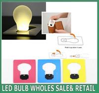 abs colored lights - New Design Portable LED Card Pocket Light bulb Lamp Wallet Size Emergency ABS Small THIN Portable LED Card Light