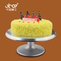 bakery table - Bakery cake tools mounting patterns station inch aluminum alloy wheel slip cake rack rotating table