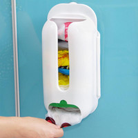 Wholesale Home Useful Wall Mount Plastic Carrier Bag Storage Container Holder Organizer Recycle Box cm Hot Sale