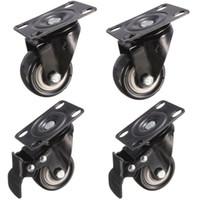 Wholesale 4Pcs mm Metal Swivel Castor Wheels Trolley Caster Replacement Wheels