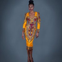 africa letter - 2016 Sexy slim Autumn Print dashiki for women plus size africa clothing Casual Elastic Dresses dashiki dress African women Bodycon dresses
