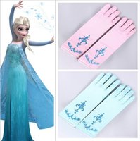 Wholesale High Quality PrettyBaby colors glitter powder print children party gloves elsa coronation gloves Elsa And Anna Princess Gloves pairs