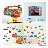 Wholesale DIY movie cars wall stickers for kid rooms bedroom living room d cartoon film window decal nursery kids mural art wallpaper