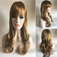 air wigs - 18 quot Wavy Golden Color Lolita Cosplay Wig Party Wig with air bangs hair products