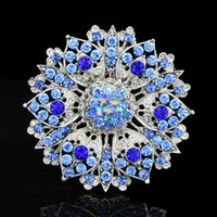 beautiful female faces - 2016 Fashion Hot beautiful K gold plated silver female crystal brooch corsage bouquet wedding birthday party