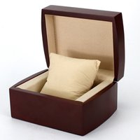 Wholesale High end brand packaging gift box protect the watch Luxury flannelette Watch Box Bronzing Logo customized