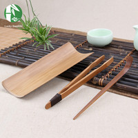 Wholesale Handmade Chinese Tea Ceremony Tools Bamboo Tea Sets Tea Tools Include Tea Scoop Needle Tong NEW Kitchen Drinkware