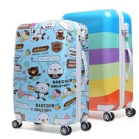 Wholesale High Quality Women Girls Rolling Luggage ABS Trolley Travel Bag Boarding Bags Spinner Hardside Luggage Bag On Wheels JO0028