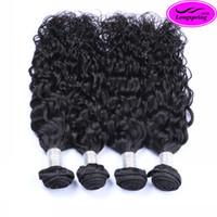 achat en gros de trame tisser des extensions de cheveux-Brazilian Hair Tissages naturel Vague péruvienne Malaysian Indian cambodgien des cheveux Bundles 8A Qualité Double Extensions Trame