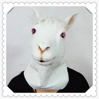 alpaca cap - Hot Party Cosplay Mud horse animal latex masks Halloween animal caps cosplay props handsome alpaca headgear Halloween silicone face mask