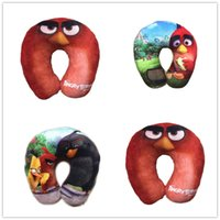 Wholesale NEW styles angry birds u shaped pillow Plush pillow cartoon doll baby girl children s day gift
