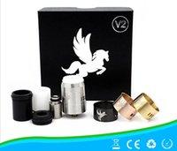 Vaporizador Dark Horse V2 Kit Rebuildable atomizador RDA goteo atomizador 22mm clon con 510 hilos extra 3 anillos de alta calidad DHL libre