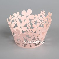 beautiful one liners - 100pcs Laser Cut Beautiful Flowers Floret Paper Cupcake Wrapper Liner for Wedding Birthday Party muffin Holder Table Decor
