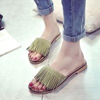 Wholesale Tassel Sandals Women Slippers Summer Fringe Sandal Flats Slides Women Shoes Chaussure de Marque Slipper Dames
