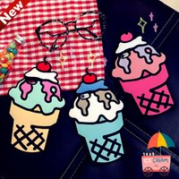 apple iphone messenger - 2017 New Womem Ice Cream Bags Pu Leather Messenger Bags Small Cupcake Mini Coin Case Handbags Crossbody Cute Girls Bag Colorful DHL free