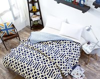 Wholesale ParisSpring Geometric Mediterranean Bedspread Twill Blue Quilted Bedcover Full Size cm Home coverlet New Arrival