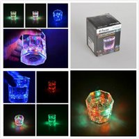 Wholesale 50pcs LED Colorful Flashing Drinking Cup Plastic Wine Cup Bar Parties Club Decorative Mug Scotch Plastic Wine Cup