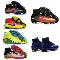 Wholesale Men Mercurials Superfly FG CR7 Soccer Shoes Children Soccer Cleats Laser Magista original Kids Boy football boots women Girls Football Shoes