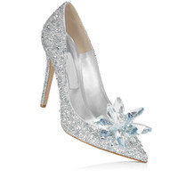 beaded evening shoes - beaded customized Cinderella bride party Dress Footwear Rhinestone High heeled Wedding Stilettos Ladies Evening Pumps elegent Bridal shoes