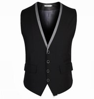 Wholesale Mens Vest Business Casual Men s Waistcoat V neck Male Chaleco And Colete Masculino business suit vest