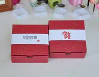 Wholesale Red Cake Box Party Cupcake Pastry Mooncake Cookies packing Corrugated Paper Boxes for Chrismas