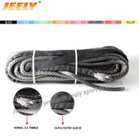 Wholesale MM M UHMWPE Synthetic Winch Towing Cable Tow Strap Car Towing Rope with Thimble and sleeve
