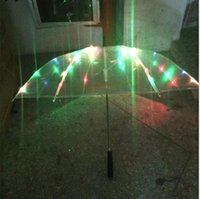 Wholesale Hot Seeling LED luminous transparent umbrella with flashlight function new fashion design umbrella fan umbrella led umbrella