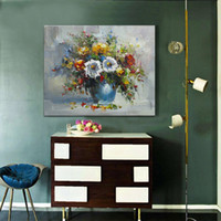 Wholesale Hand Painted Flower Abstract Oil Painting On Canvas Wall Pictures For Home Art Decoration