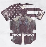 anti matter - 2 Styles Real USA size Custom made Hand s Up Don t Shoot BLACK LIVES MATTER D Sublimaiton Print Baseball Shirt