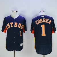 baseball astros - Houston Astros Jersey Mens Carlos Correa Navy Blue Flexbase Collection Baseball Jersey Stitched Name Number and Logos
