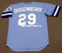 Wholesale Throwback DAN QUISENBERRY Kansas City Royals Retro jerseys Men s embroidery baseball jersey
