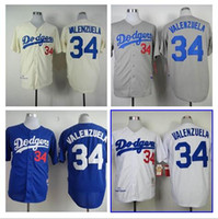 angeles store - Men Fernando Valenzuela Jersey Embroidery Logos Los Angeles Dodgers Baseball Throwback Vintage Authentic Aimee Smith Store