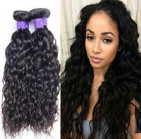 Wholesale Unprocessed A Wet And Wavy Human Hair Cheap Brazilian Water Wave Hair Brazillian Curly Hair Product Water Wave Hair Bundles