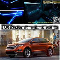 Wholesale DIY Cool EL light Tuning Atmosphere Fiber Optic Band Lights For Ford Edge Door Panel illumination Refit interior Ambient Light
