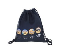 Wholesale Fashion Emoji Smiley Stuff Sacks D digital Printing Backpacker Drawstring Bags Christmas Gifts Via FedEx ship