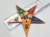 Wholesale 100 Polyester Masonic Embroidery Patches Mason Regalia Freemason Chapter Eastern Star OES Freemasonic Iron On