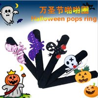 Wholesale Manufacturers selling Halloween holiday decorations new pat circle bracelet ring pops pumpkin party supplies