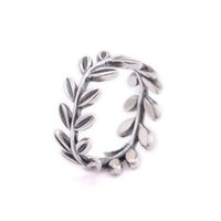 Wholesale crown silver olive leaf rings ale sterling silver rings fashion rings silver jewelry rings for women RG115