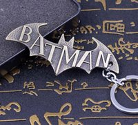 antique jewelr - Bat Man Movie Theme Metal Keychains Batman Movie jewelr Key Chains comic figure pendant accessories Key Ring Hot selling movie key chain