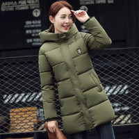 Wholesale Winter Jacket Women Parka Hot Sale Wadded Jacket Thick Warm Long Hood Slim Cotton Padded Coats Women Plus Size XL LX43